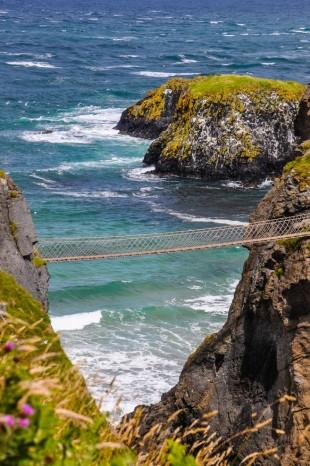 irlanda del nord Carrick A Rede Rope Bridge