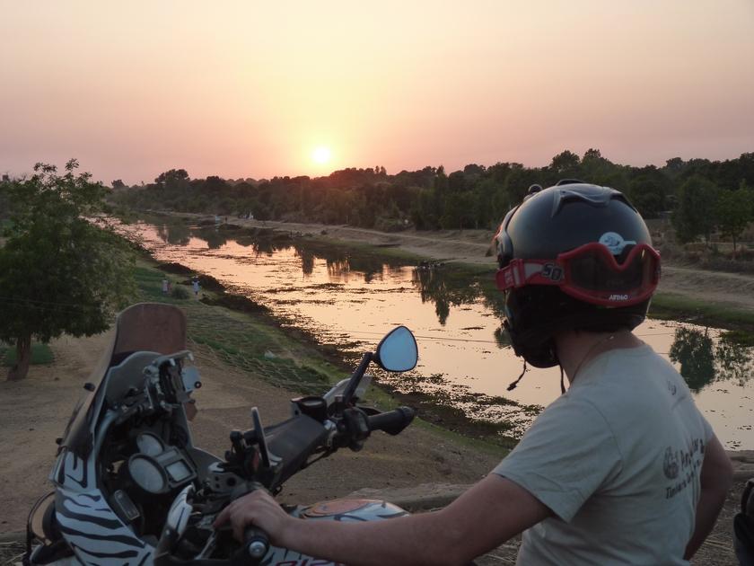 burkina faso-fiume-tramonto