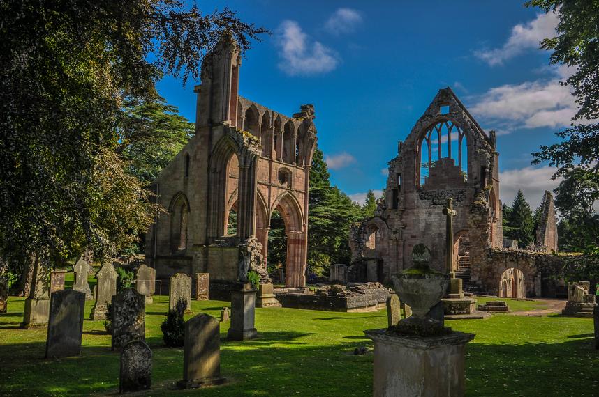 abbazia di Melrose una delle 4 grandi abbazie dei Borders scozzesi.