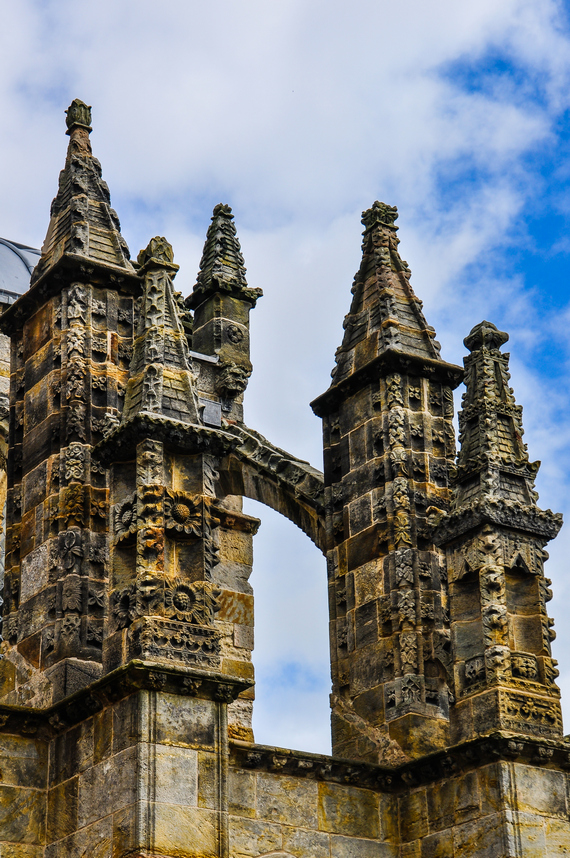 le guglie esterne della Rosslyn chapel