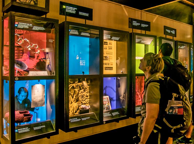 """L'interno del Nobelmuseum, dove sono esposte le storie delle """"scoperte"""""""