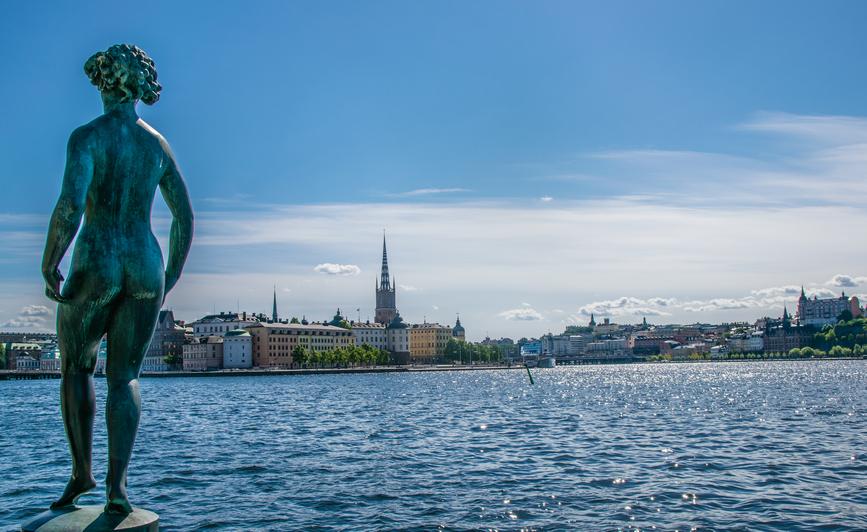 Uno dei tanti scorci visti durante il girovagare tra i canali, per vedere un'altra Stoccolma