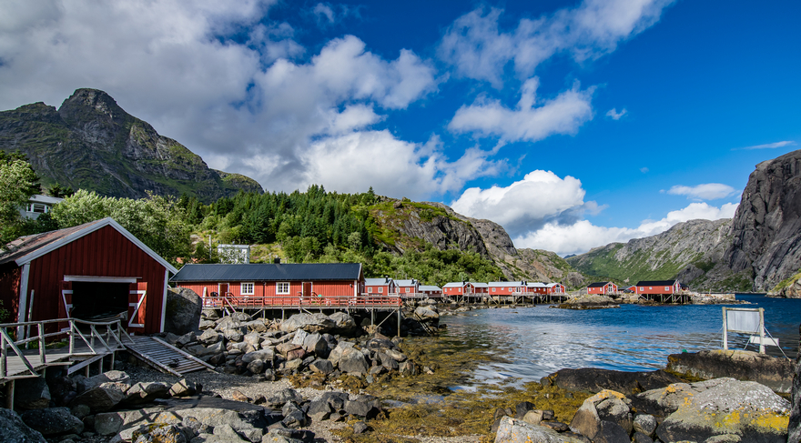 villaggio di pescatori di Nusfjord